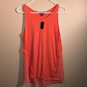 The Limited Orange/Coral Baby Doll Tank Top NWT